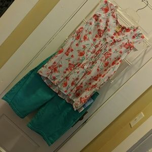 Summer Top Large and Rider Shorts 14M